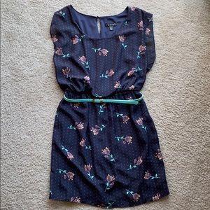 Polka Dot Floral Dress